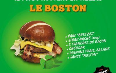 Découvrez notre BOSTON Burger dès le 20 juin!